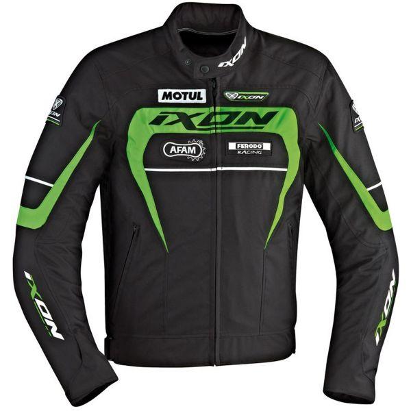 Blouson Moto Ixon Matrix Black White Green