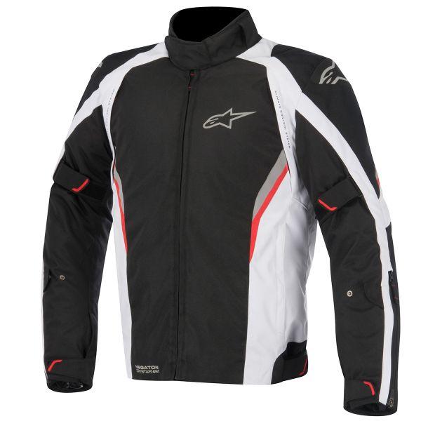 Blouson Moto Alpinestars Megaton Drystar Black White Red