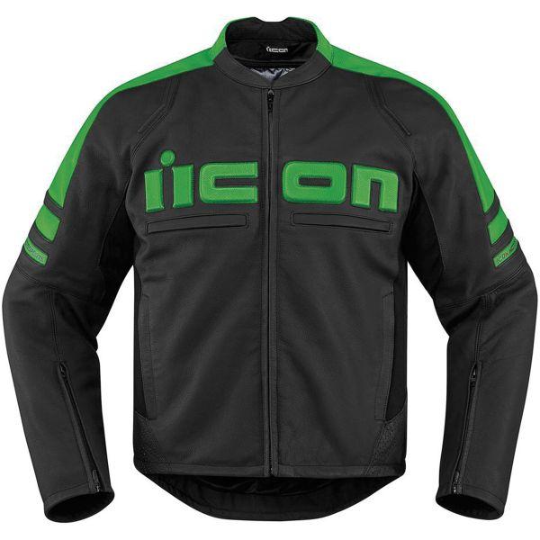 Blouson Moto ICON Motorhead 2 Green