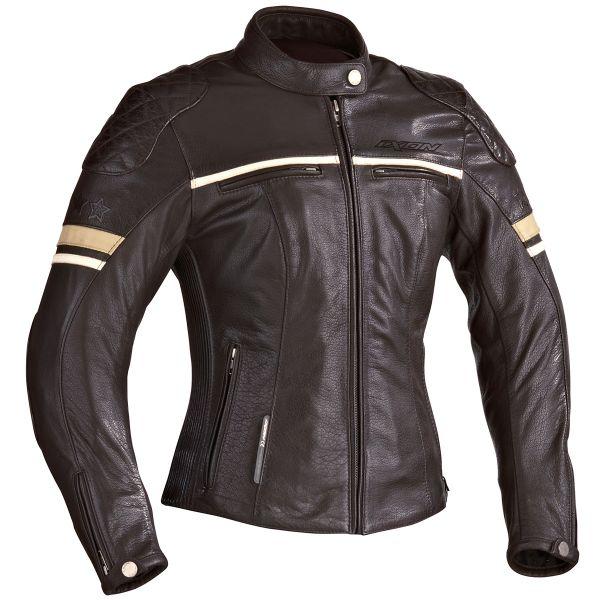 blouson moto ixon motors lady marron au meilleur prix. Black Bedroom Furniture Sets. Home Design Ideas