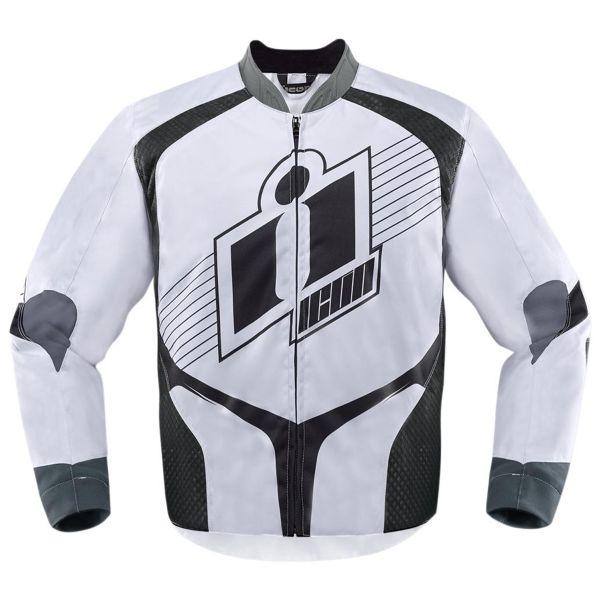 Blouson Moto ICON Overlord D3O White