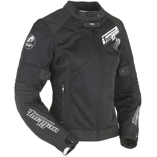 Blouson Moto Furygan Pantha Lady Vented Black White