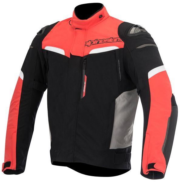 Blouson Moto Alpinestars Pikes Drystar Black Red White