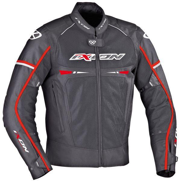 Blouson Moto Ixon Pitrace Noir Blanc Rouge