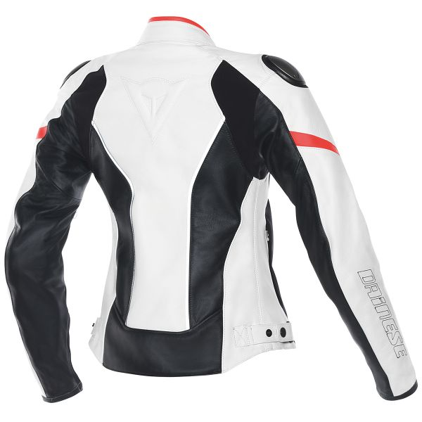 Dainese Racing D1 Lady White Black Red Fluo