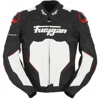 Blouson Moto Furygan Raptor Black White Red