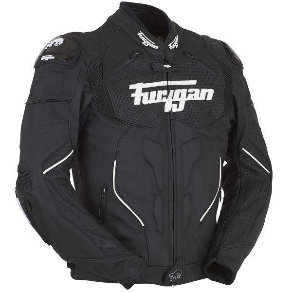 Blouson Moto Furygan Raptor Black White