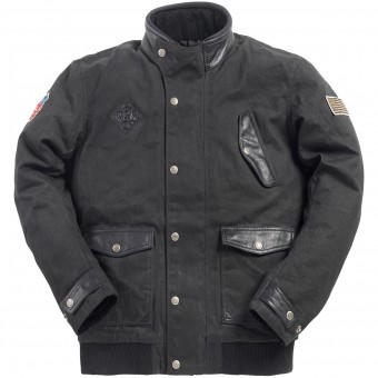 Blouson Moto Ride & Sons Runaway Black Waxed