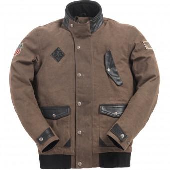 Blouson Moto Ride & Sons Runaway Brown Waxed
