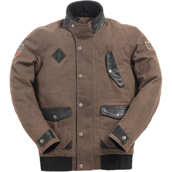 Blouson Moto Ride & Sons Runaway Brown Waxed