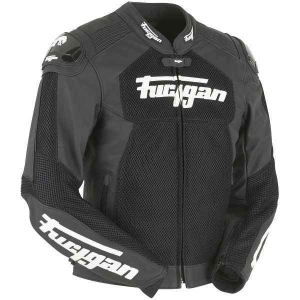 Blouson Moto Furygan Speed Mesh 3D Black White