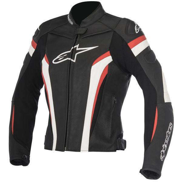 blouson moto alpinestars stella gp plus r v2 black white red en stock. Black Bedroom Furniture Sets. Home Design Ideas