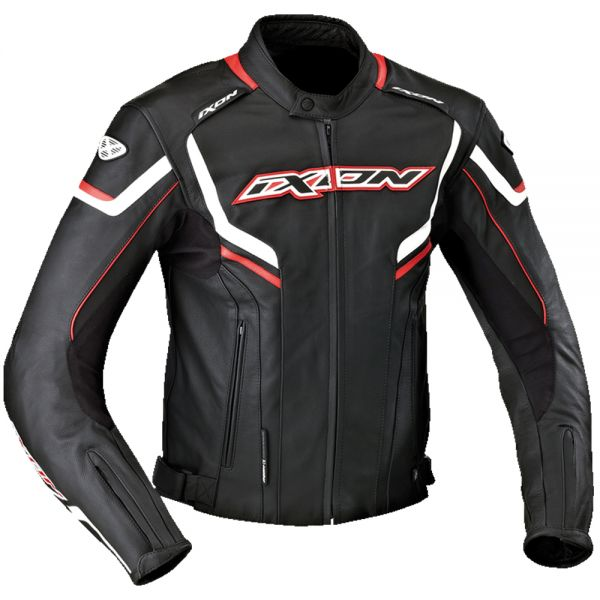 Blouson Moto Ixon Stunter Black White Red