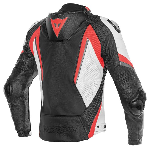 Dainese Super Rider Black White Red Fluo