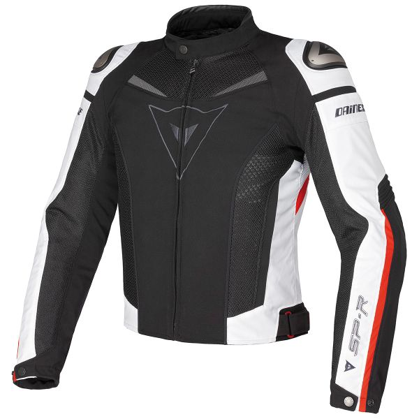 Blouson Moto Dainese Super Speed Black White Red