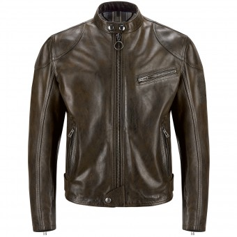 Blouson Moto Belstaff Supreme Black Brown