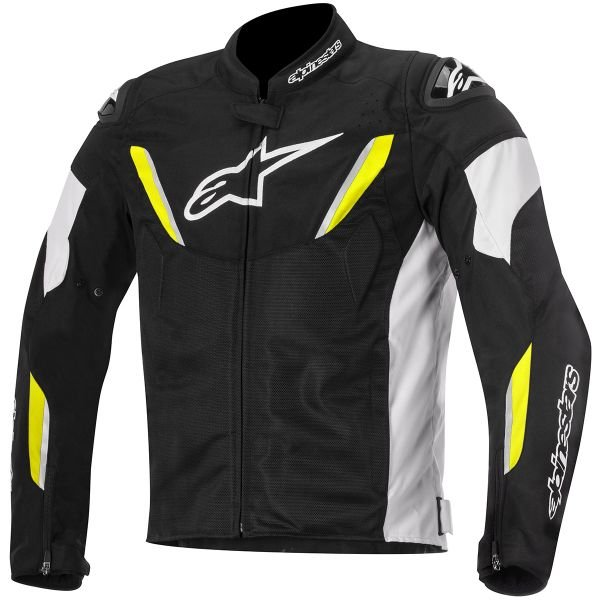 Blouson Moto Alpinestars T-GP R Air Black White Yellow Fluo