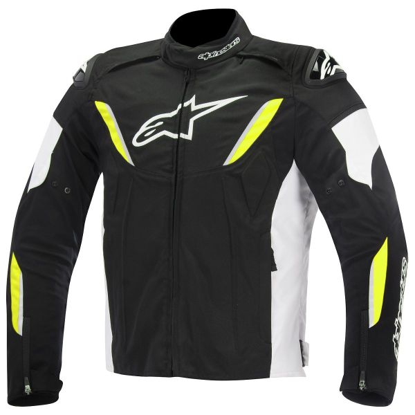 Blouson Moto Alpinestars T-GP R Waterproof White Yellow Fluo