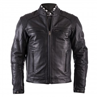 Blouson Moto Helstons Trust Leather Plain Black
