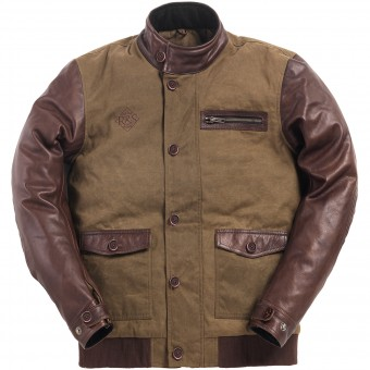 Blouson Moto Ride & Sons Varsity Army Brown