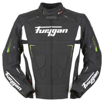 Blouson Moto Furygan Vortex Black White Green