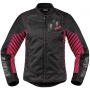 Blouson Moto ICON Wireform Woman Pink