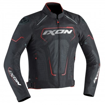 Blouson Moto Ixon Zephyr Air HP Black White Red