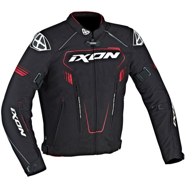 Blouson Moto Ixon Zephyr HP Black White Red