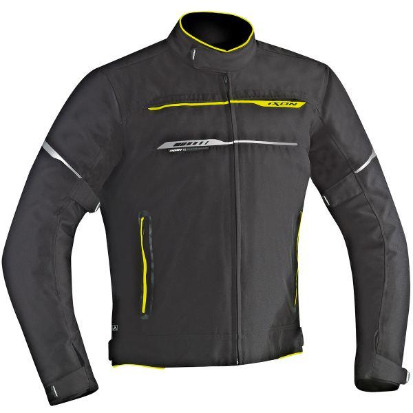 Blouson Moto Ixon Zetec HP Black Yellow Fluo