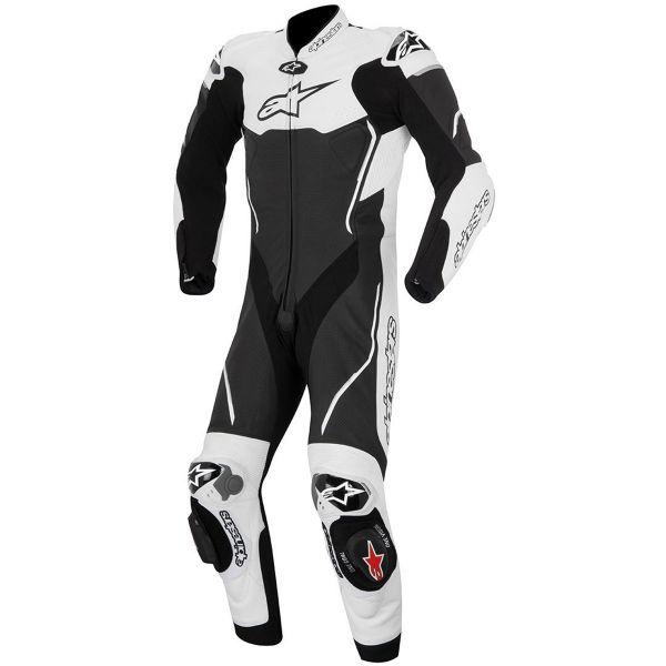 combinaison moto cuir alpinestars atem suit black white en stock. Black Bedroom Furniture Sets. Home Design Ideas
