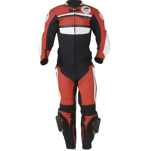 Combinaison Moto Cuir Furygan Combi Junior Noir Blanc Rouge