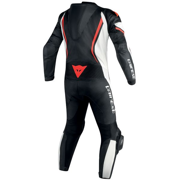 Dainese Assen 1PC Perf Black White Red Fluo