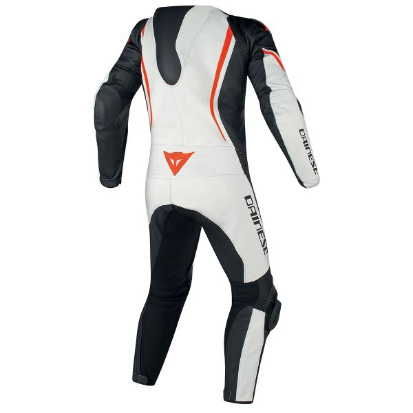 Dainese Assen 1PC Perf White Black Red Fluo