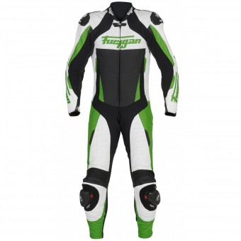 Combinaison Moto Cuir Furygan Full Apex White Green Black