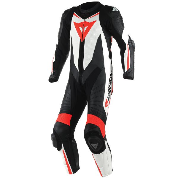 Combinaison Moto Cuir Dainese Laguna Seca D1 1 PC. Perforated Black Red Fluo