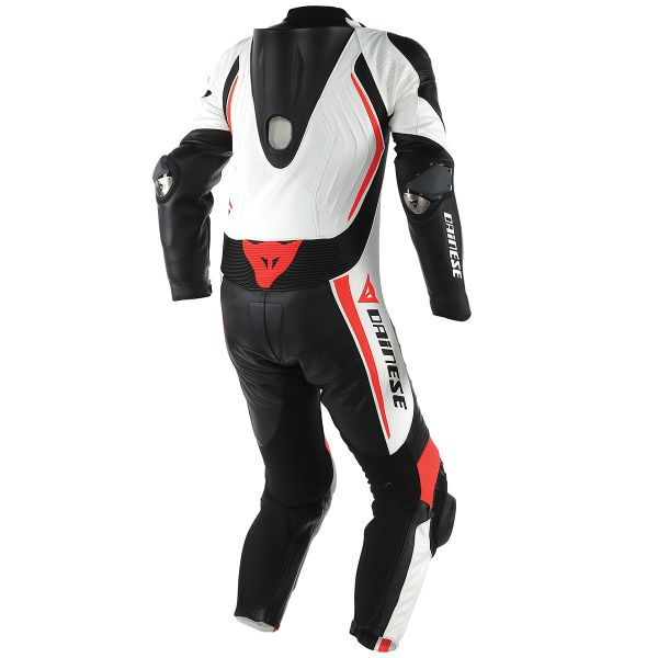Dainese Laguna Seca D1 1 PC. Perforated Black Red Fluo