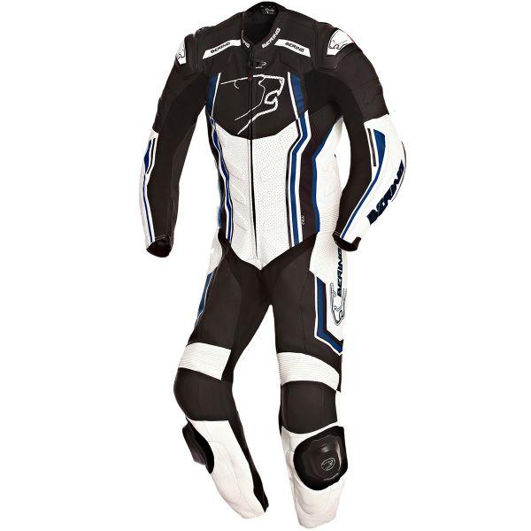 Combinaison Moto Cuir Bering Supra-R Black White Blue
