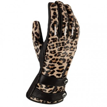 Gants Moto ICON Catwalk Leopard