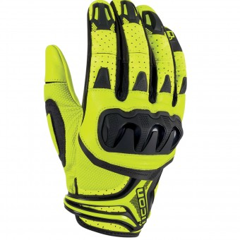 Gants Moto ICON Overlord Resistance Hi-Viz Yellow