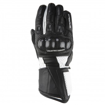 Gants Moto V'Quattro RL-17 Black White