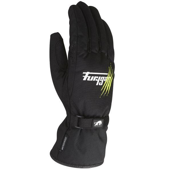 Gants Moto Furygan Raindrop Claw Noir Vert Fluo