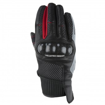 Gants Moto V'Quattro SP-17 Black Grey Red