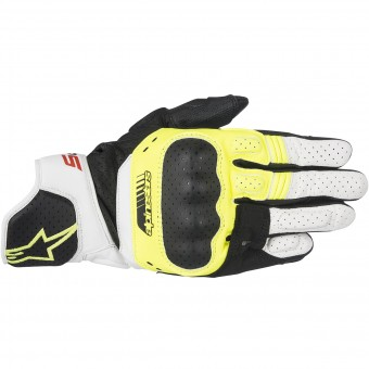 Gants Moto Alpinestars SP-5 Black Yellow Fluo White