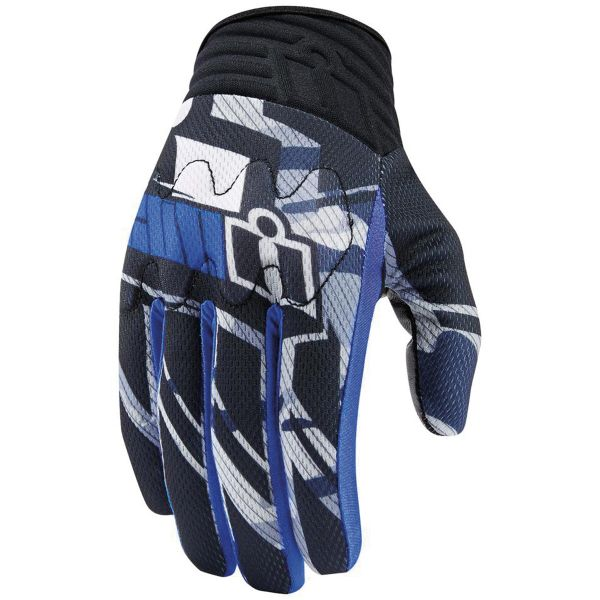 Gants Moto ICON Anthem Primary Blue