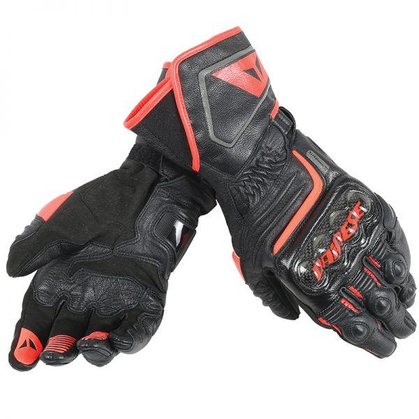 Gants Moto Dainese Carbon D1 Black Red Fluo
