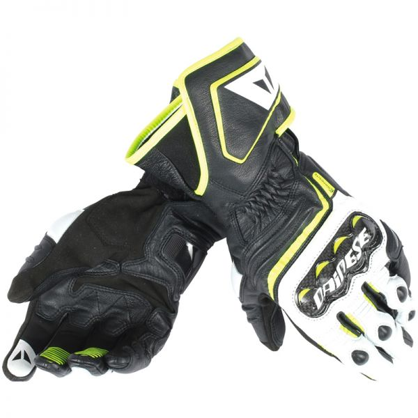 Gants Moto Dainese Carbon D1 Black Yellow Fluo