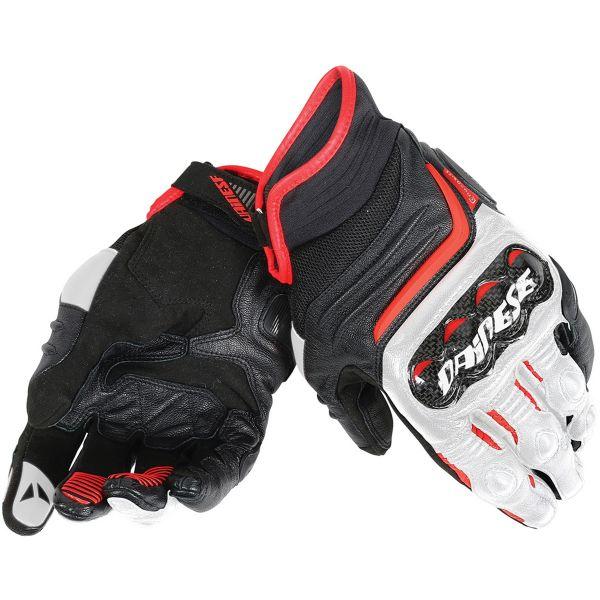 Gants Moto Dainese Carbon D1 Short Black White Red