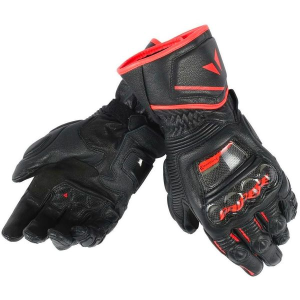 Gants Moto Dainese Druid D1 Long Red Fluo
