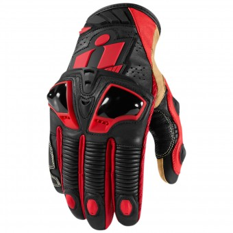Gants Moto ICON Hypersport Pro Short Red