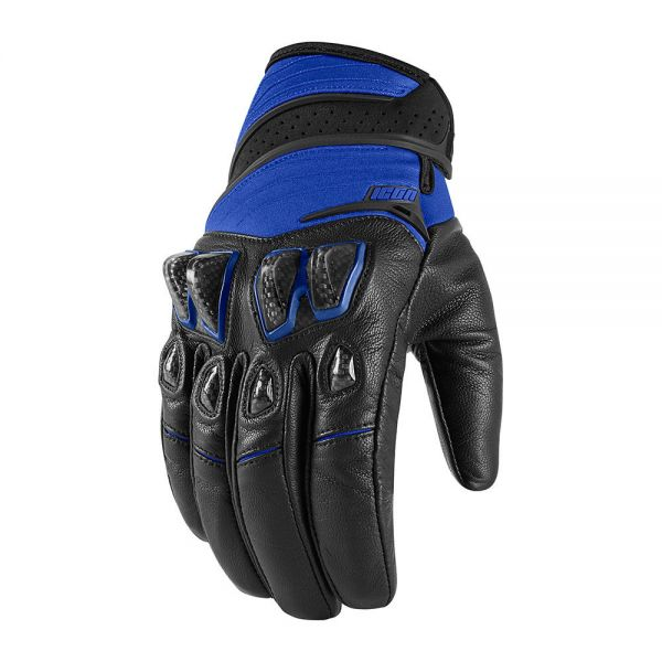 Gants Moto ICON Konflict Black Blue